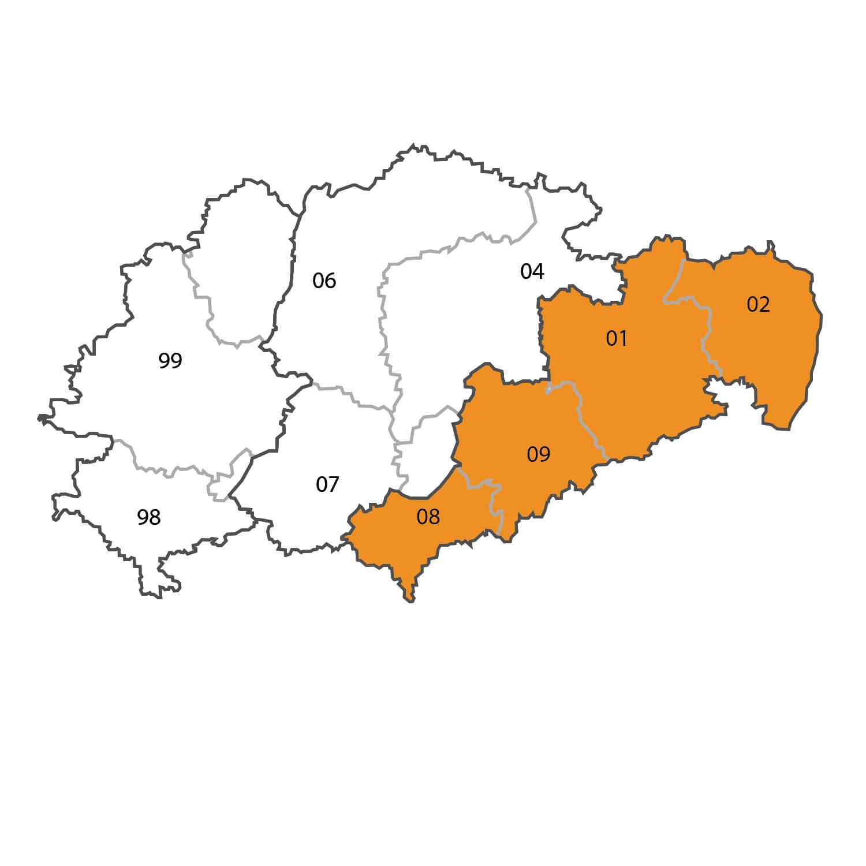 Gebietskarte - Hendrik Jacob