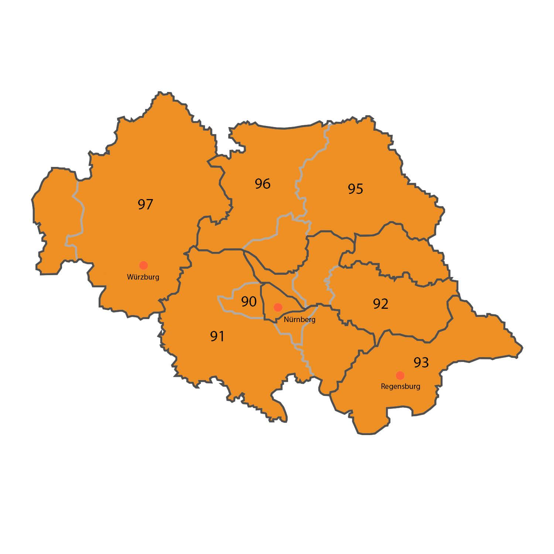 Gebietskarte - Dipl. Ing. Holger Schneider
